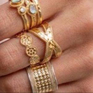 Anna beck gold crisscross ring size 8